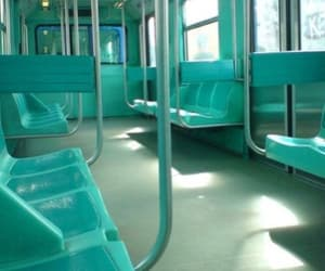 blue, bus, and teal image