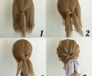 bow, braid, and braided image