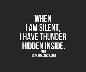 quotes, silent, and thunder image
