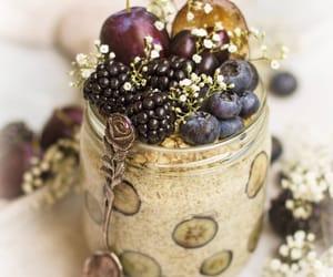 beige, blackberries, and blueberries image