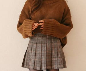 fashion, skirt, and autumn image
