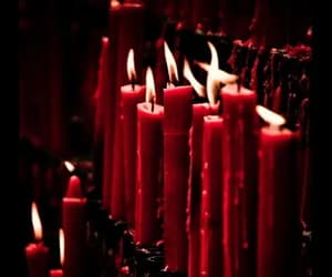 candle, red, and fire image