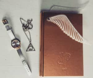 book, clock, and harry potter image