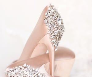 Nude, high heels, and nude heels image
