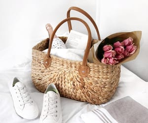 delicate, sneakers, and flowers image