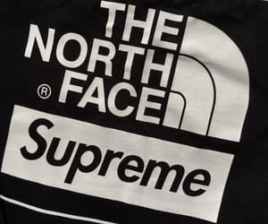 black, supreme, and the north face image