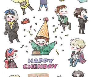 birthday, Chen, and exo image
