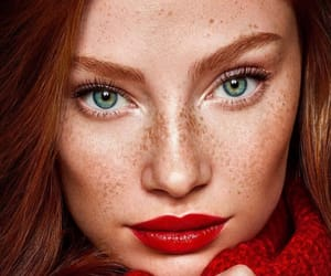 freckles, ginger, and lipstick image
