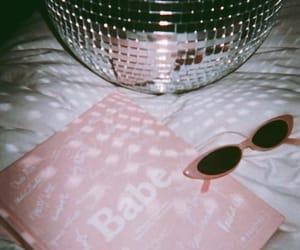 babe, baby pink, and disco ball image