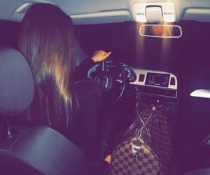girl, car, and Louis Vuitton image
