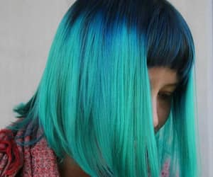 blue, fashion, and hair style image