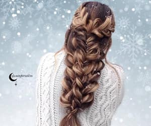 beautiful, braid, and brown image