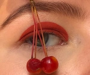 fruit, makeup, and red image