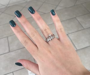 fingers, green nails, and hands image