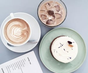 cake, coffee, and design image