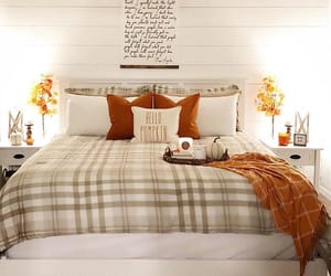autumn, bed, and bethroom image