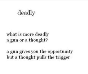 dead, gun, and thought image