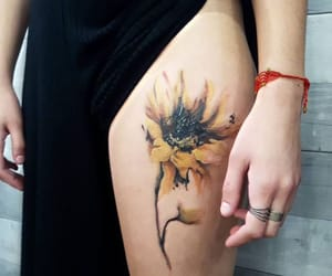 flower, tattoo flower, and tattoo image