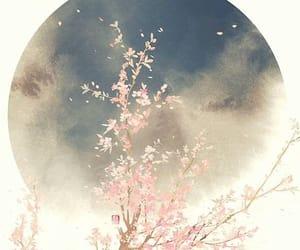 art, trees, and sakura's image