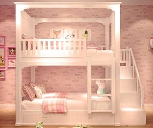 bedroom, bunk bed, and child image