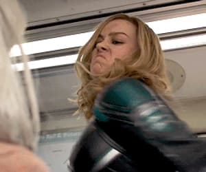 gif, Marvel, and captain marvel image