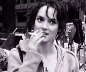 winona ryder, cigarette, and smoke image