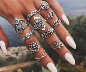boho, nails, and rings image