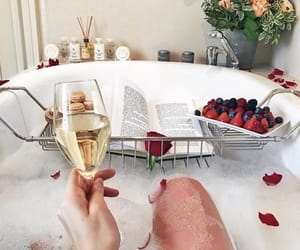 bath, luxury, and book image