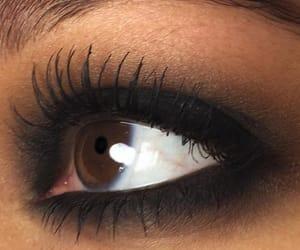 makeup, black, and brown image