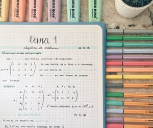 maths, notebook, and stabilo image