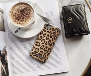 coffee, gucci, and wallet image