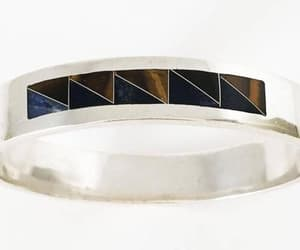 etsy, sterling silver, and hinged bangle image