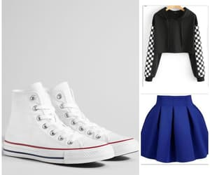 checkers, converse, and outfit image