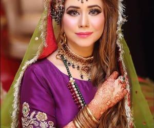 bride, henna, and indian bride image