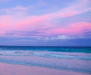 beaches, paradise, and sunset image