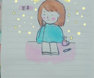 diary, doodle, and girl image