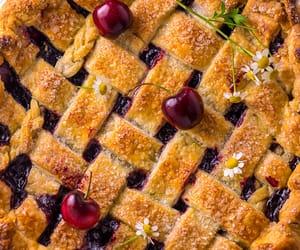 cake, cherries, and pastry image