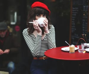 red, style, and coffee image