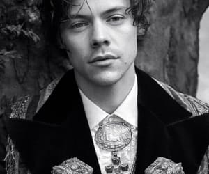 Harry Styles, gucci, and black and white image