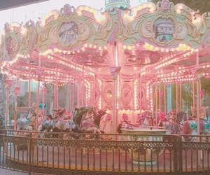 pastel, carousel, and aesthetic image