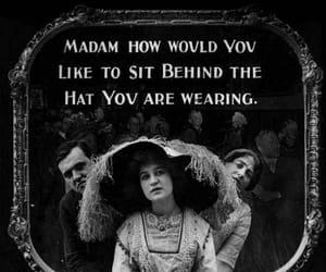 hat, vintage, and cinema image
