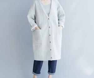 etsy, cotton jacket, and oversized coat image