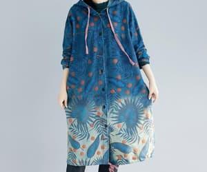 etsy, long coat, and cotton coat image