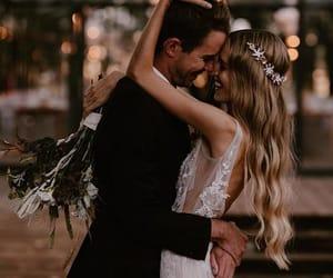 couple, wedding, and blonde image