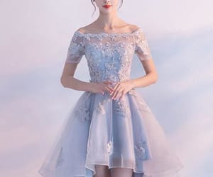 blue prom dresses, a-line homecoming dresses, and homecoming dresses lace image