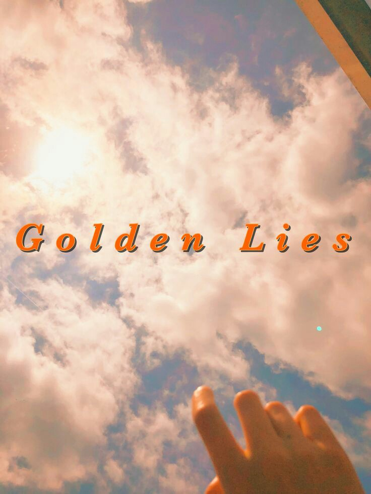 aesthetic, golden, and lies image