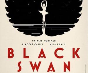 black swan, natalie portman, and poster image