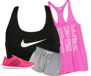 nike, pink, and workout image