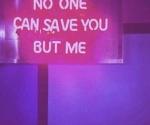 neon, purple, and quotes image