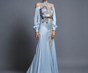 blue, Couture, and gown image